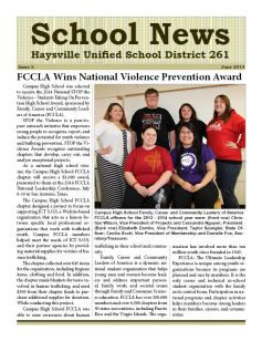 District Newsletter June 2014 Cover
