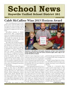 February 2015 newsletter cover